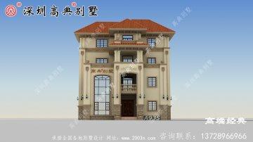 简欧式风格的农村自建房设计图,