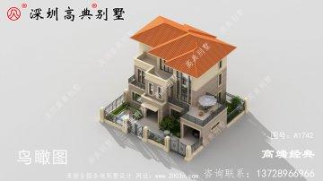三层现代中式小别墅,外观耐看大