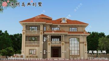 典雅的欧式三层别墅设计图,新设计的别