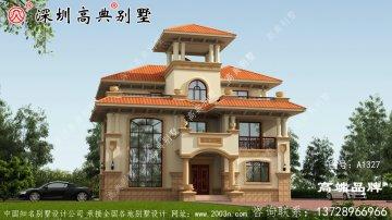 三层复式别墅设计效果图全套CAD图纸,户